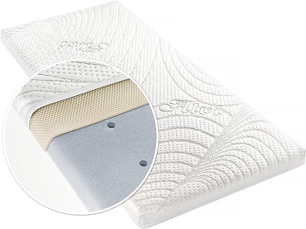 Alvi matelas pour berceau TENCEL® Dry 90 x 40 cm housse avec protection d'humidité canaux d'air coussin d'air 3D hypoallergénique sans