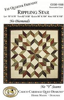 Amazon.com: Carpenter's Star-Bali Sky Quilt Pattern, Fat Quarter ... : carpenters star quilt pattern - Adamdwight.com