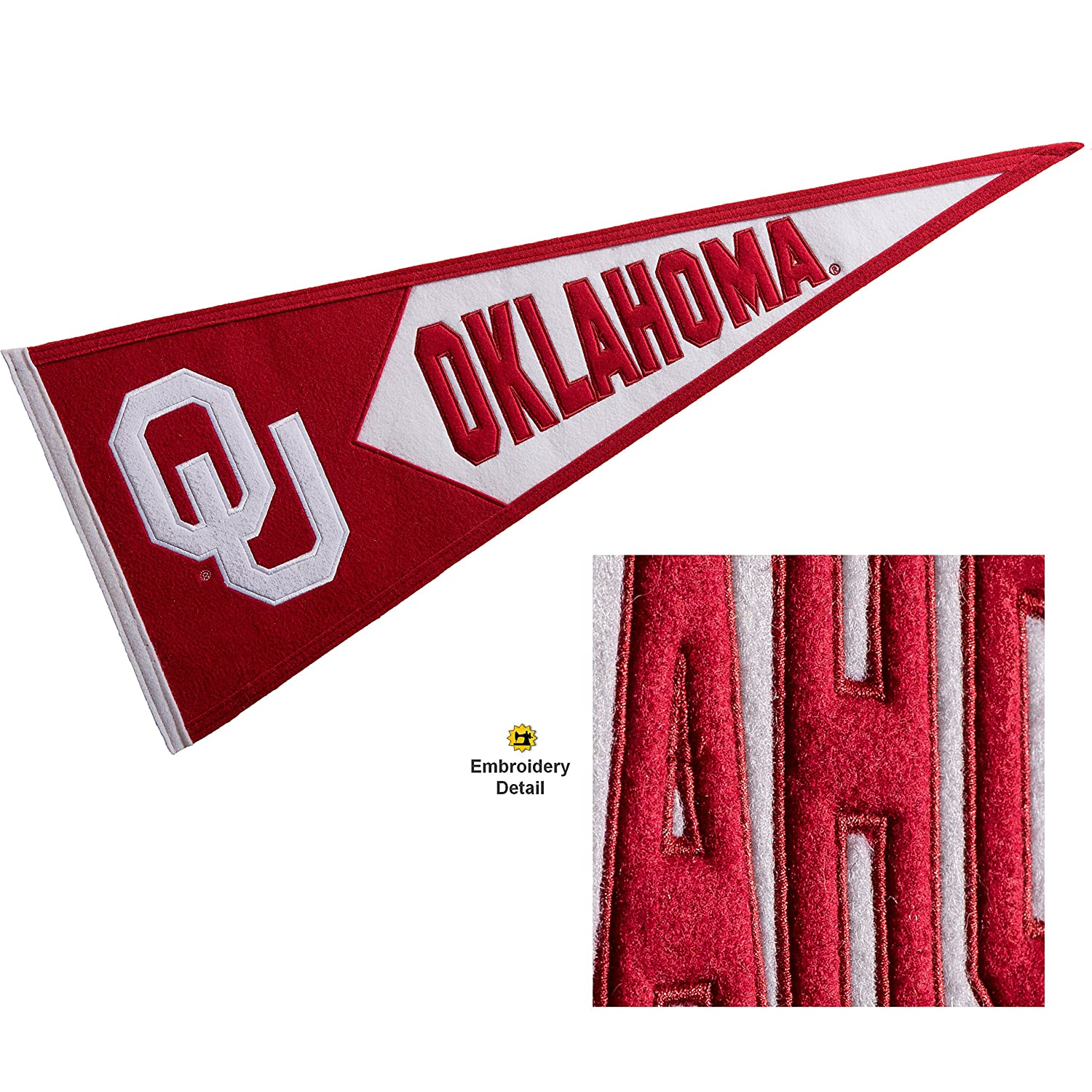 Winning Streak Oklahoma Sooners Wool Embroidered and Sewn Pennant Winning Streak Sports