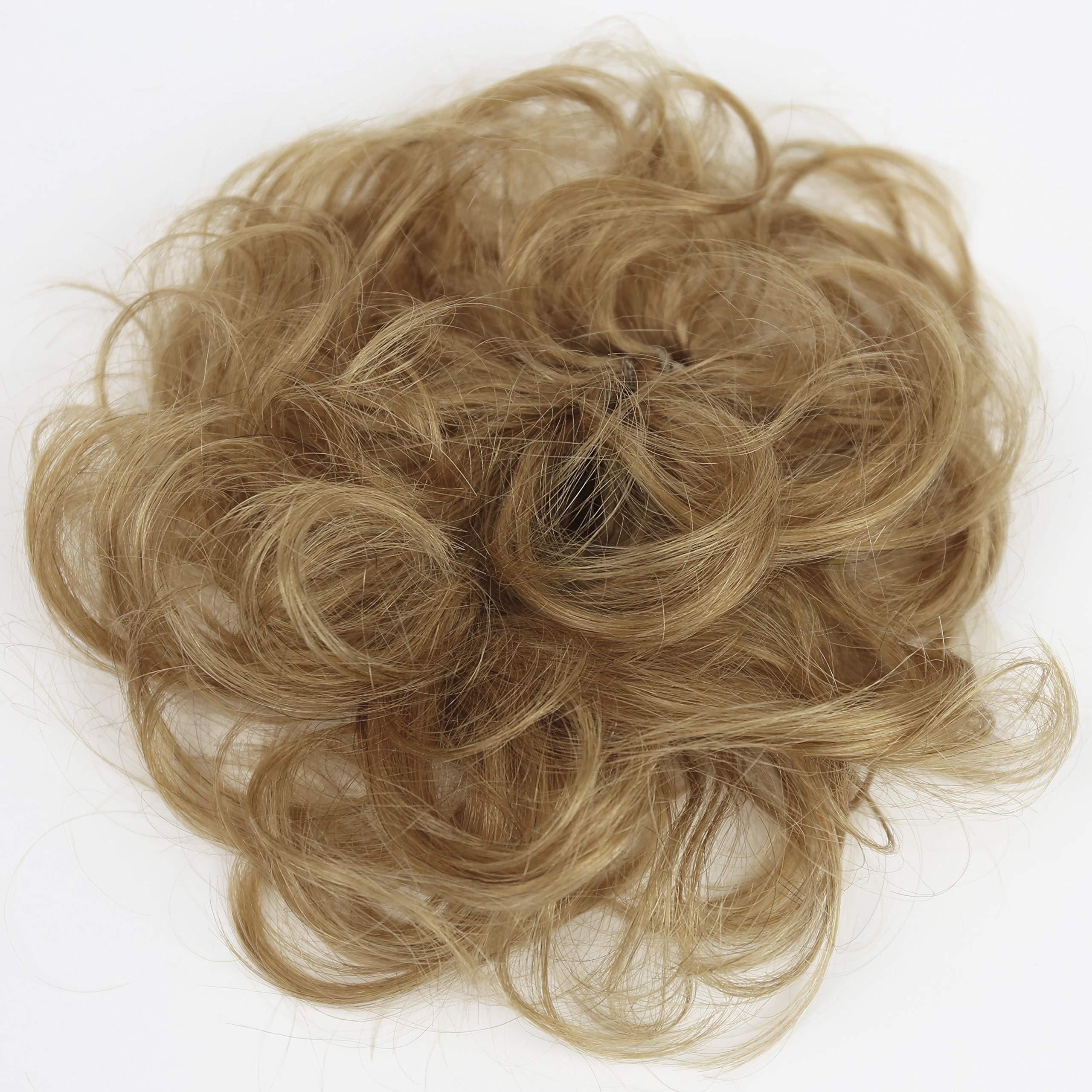 PRETTYSHOP 100% Human Hair Up Scrunchie Scrunchy Extensions Hairpiece Do Bun Ponytail Diverse Colors (strawberry blonde 27 H312) by Prettyshop Human Hair