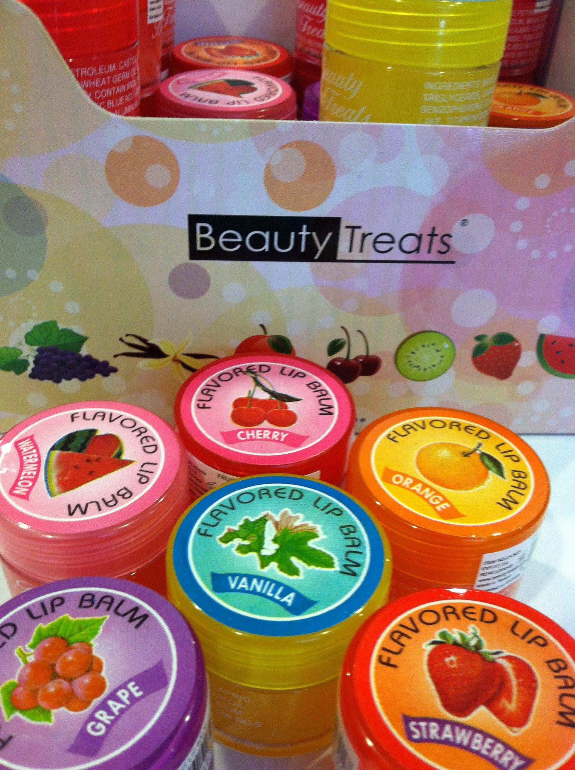 Beauty Treats Flavored Fruit Lip Balm 6 Different Flavors
