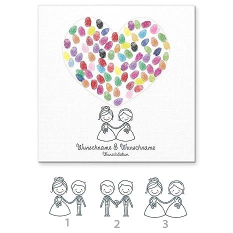 5135ddc303 Madyes Tela impronta digitale guestbook matrimonio coppia regalo  personalizzato sposa, decorazione di nozze, nomi