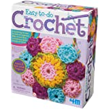 4M 3625 Easy-To-Do Crochet Kit - DIY Arts & Crafts Yarn Gift for Kids & Teens, Boys & Girls
