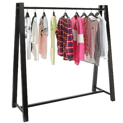 MyGift Heavy Duty Metal Clothing Hanger Storage Organizer / A Frame  Freestanding Garment Rack,