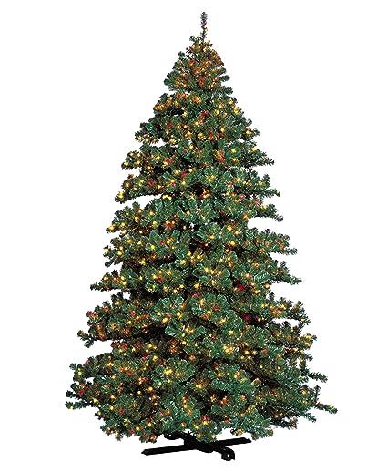 barcana 7 foot remote control alaskan fir christmas tree with 1500 multi and clear lights - Barcana Christmas Trees