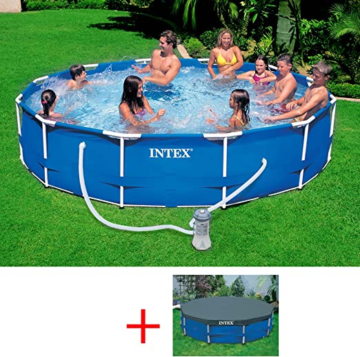 INTEX 28212 OFERTA METAL FRAME POOL CM, PISCINA DE 366 X 76 FILTRO ...