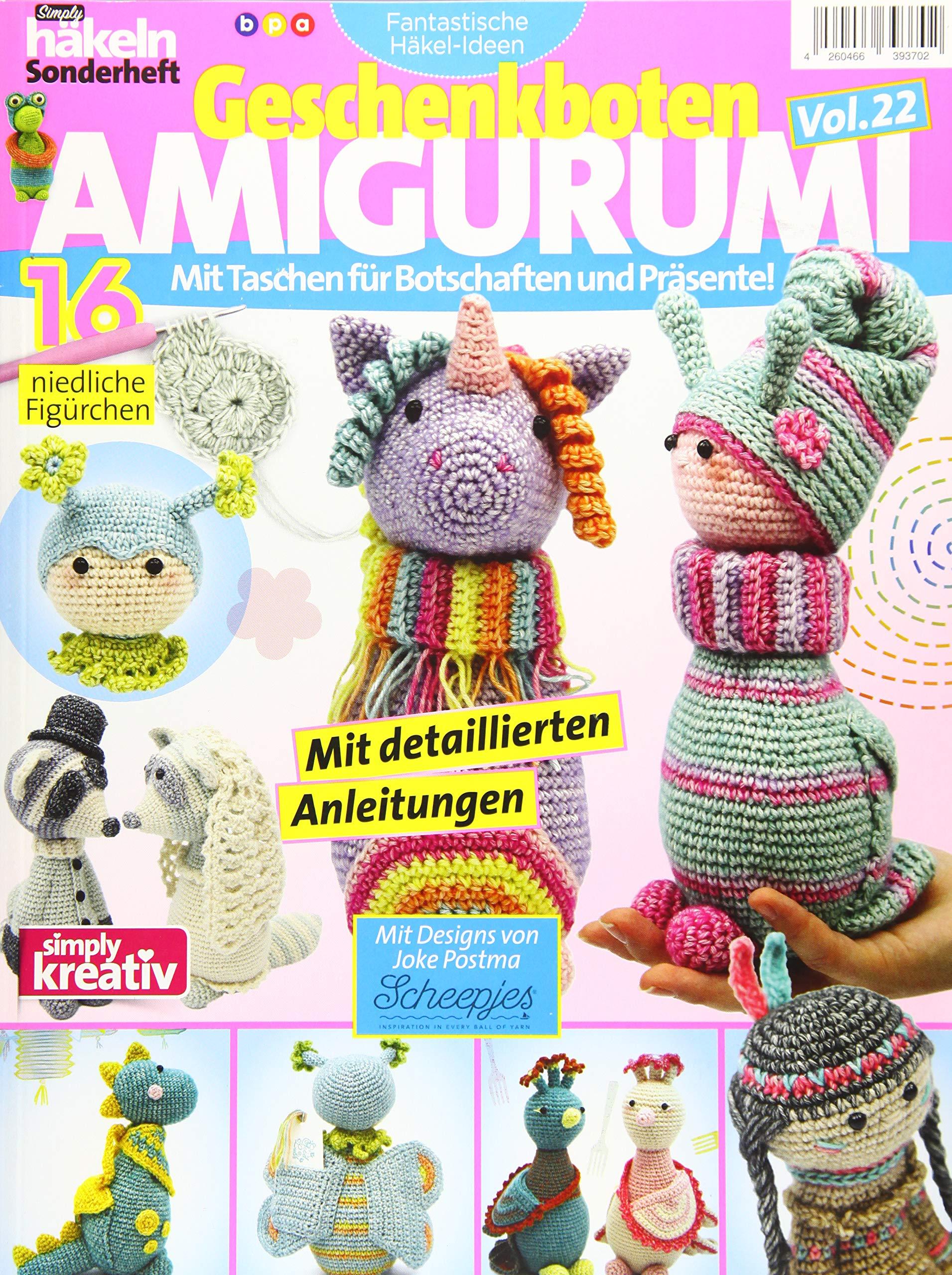 Fantastische Häkel Ideen  Geschenkboten AMIGURUMI Vol. 22  Mit Taschen Für Botschaften Und Präsente