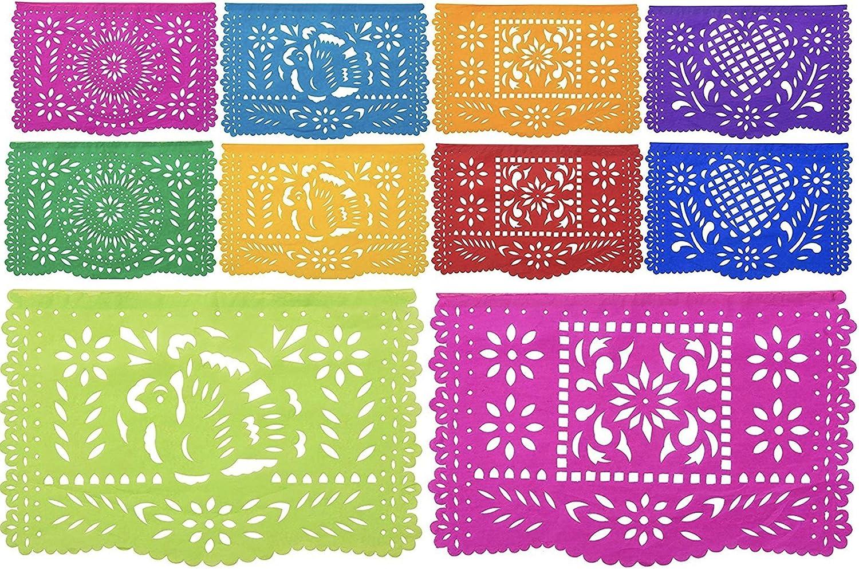 Paper Full of Wishes I 2pk Medium Tissue Papel Picado I Coloreada Mexicana I 2pk Set Each Banner 16ft Long Hanging