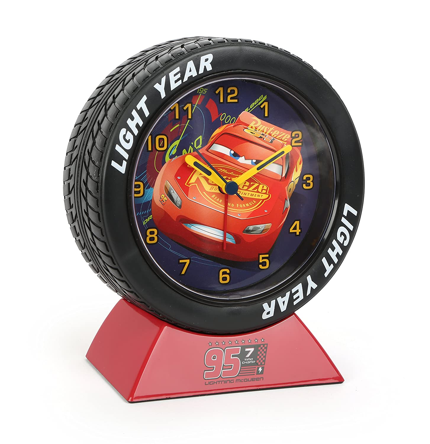 Disney Cars Lightning McQueen Tyre Alarm Clock 10766 Joy-Toy