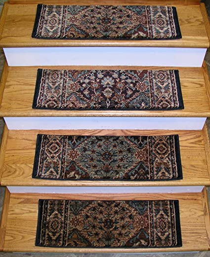 152938   Rug Depot Traditional Oriental Non Slip Carpet Stair Treads   Set  Of 13 Treads