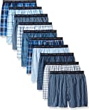 Hanes Men's 10-Pack Tartan Boxer with Exposed Waistband, Assorted
