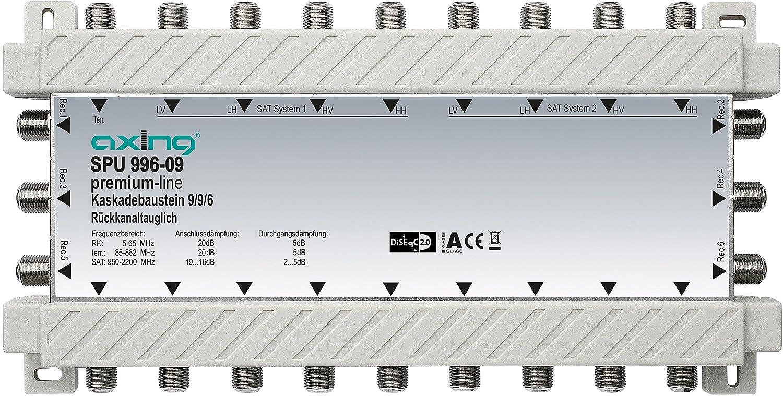 Axing SPU 996-09 Multischalter-Kaskade 6-Teilnehmer SAT 9 in 6