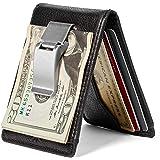 HOJ Co. DEACON ID BIFOLD Front Pocket Wallet for Men | Full Grain Leather | Bifold Wallet With Money Clip