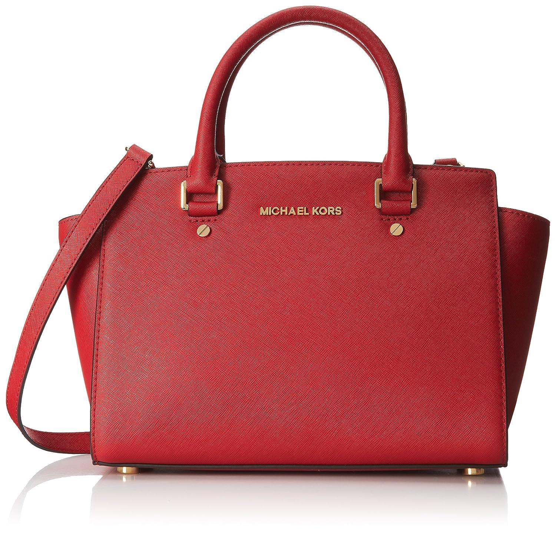 1e0c9c773 ... discount code for genuine michael kors large selma satchel red handbag  amazon shoes bags 26ece 3e5a7