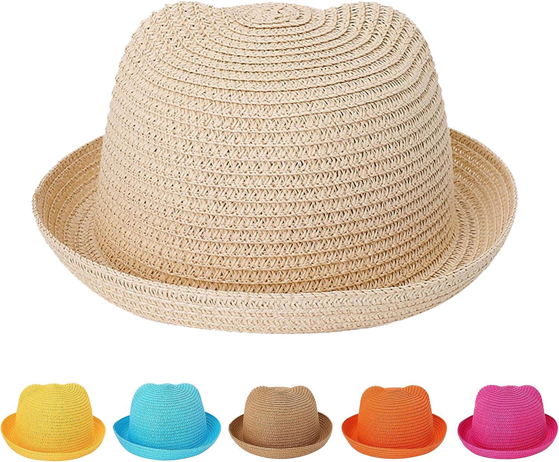 Cocila Kids Unisex Sun Hat Summer Outdoor Beach Sunscreen Cartoon Print Foldable Fisherman hat Boys Girls Bucket hat Cap