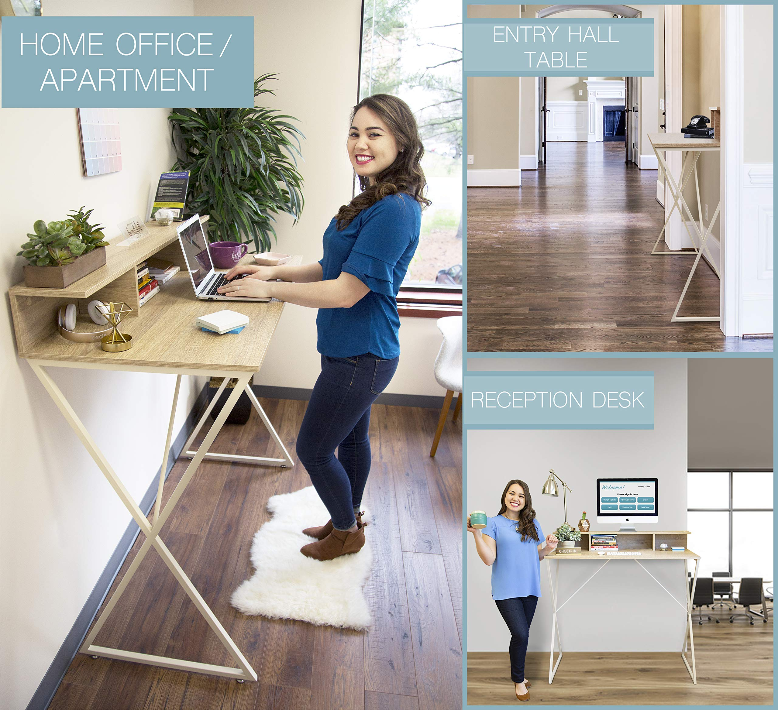 Joy Desk by Stand Steady - Modern Home Office Standing Desk Workstation with Storage Cubbies! - 47.5'' x 41.5'' by Stand Steady (Image #4)