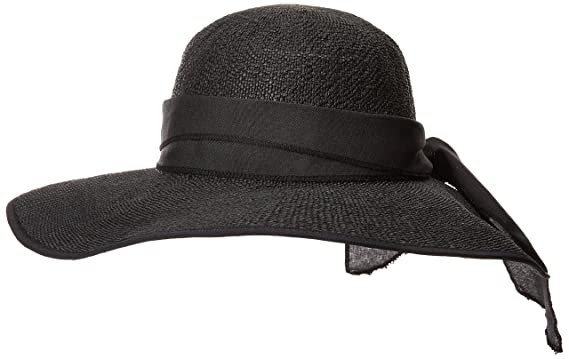San Diego Hat Company Women s PBL3093OS Woven Paper Face Saver w Scarf Tie  Black One dbe9267ea5a