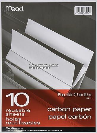 amazon com black carbon mill finish paper 8 1 2 x 11 1 2 10