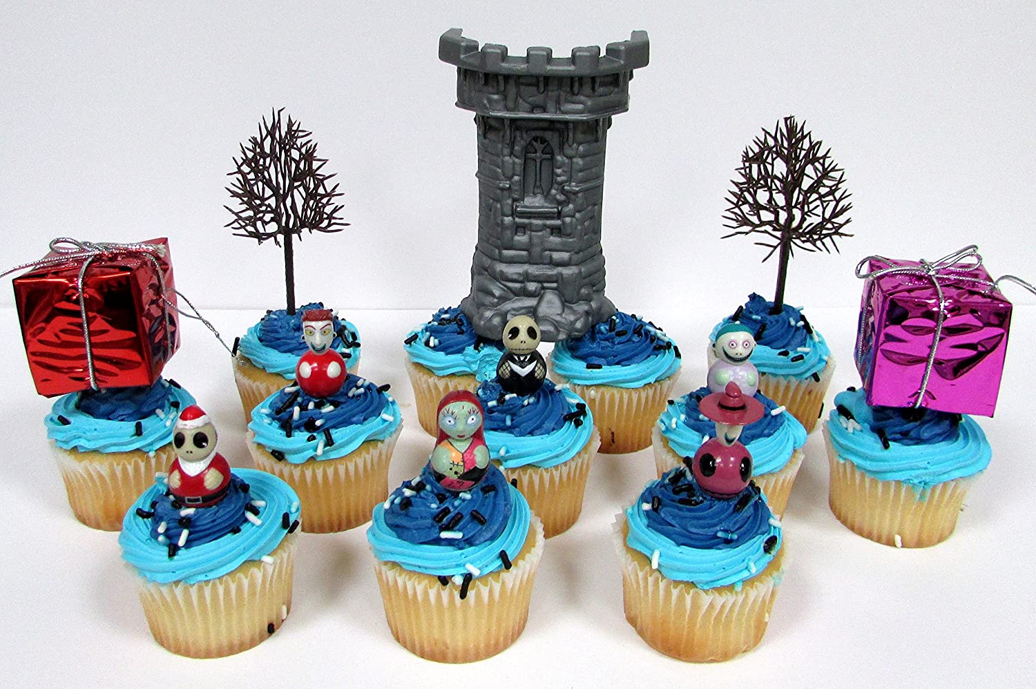 Party Favors Nightmare Before Christmas Birthday Cupcake Topper Set
