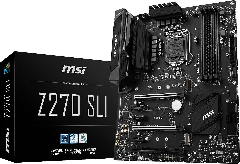 MSI Pro Series Intel Z270 DDR4 HDMI USB 3 SLI ATX Motherboard (Z270 SLI)