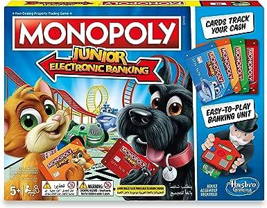 Hasbro Monopoly Junior Electronic Banking - Juego de tablero (Simulación económica, Niño/niña, 5 año(s), 99 año(s), AAA): Amazon.es: Juguetes y juegos