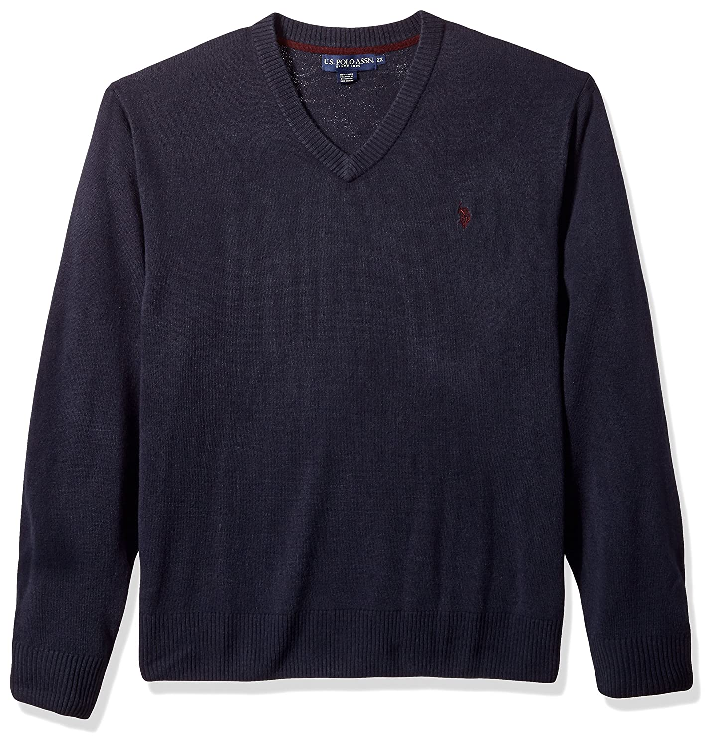 U.S. Polo Assn. Men's Solid V-Neck Sweater, Black, Small at Amazon ...