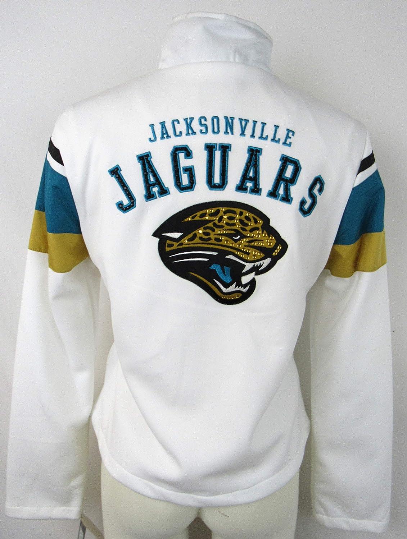 Jacksonville Jaguars Womens XL刺繍フルZipトラックジャケットラインストーンの詳細ajjs 39 XL   B078WW4HKK