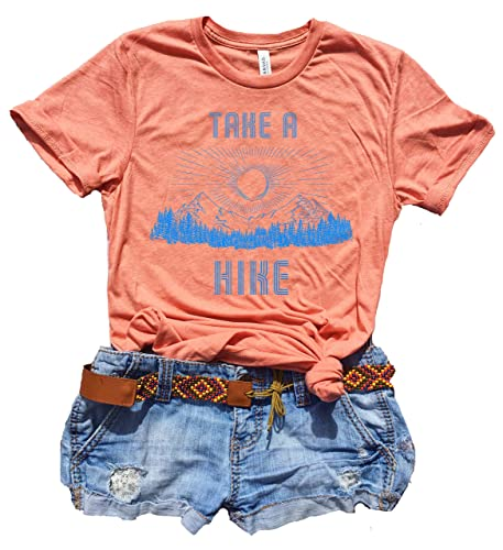 3289b3f7 Take A Hike Shirt Women, Cute Graphic Tees for Women, Hippie Clothes for  Women, Boho Tees for Women, Hiking Gift Ideas for Women, Vintage T Shirt,  ...