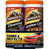 Armor All Car Cleaning and Leather Wipes - Interior Cleaner for Cars & Truck & Motorcycle