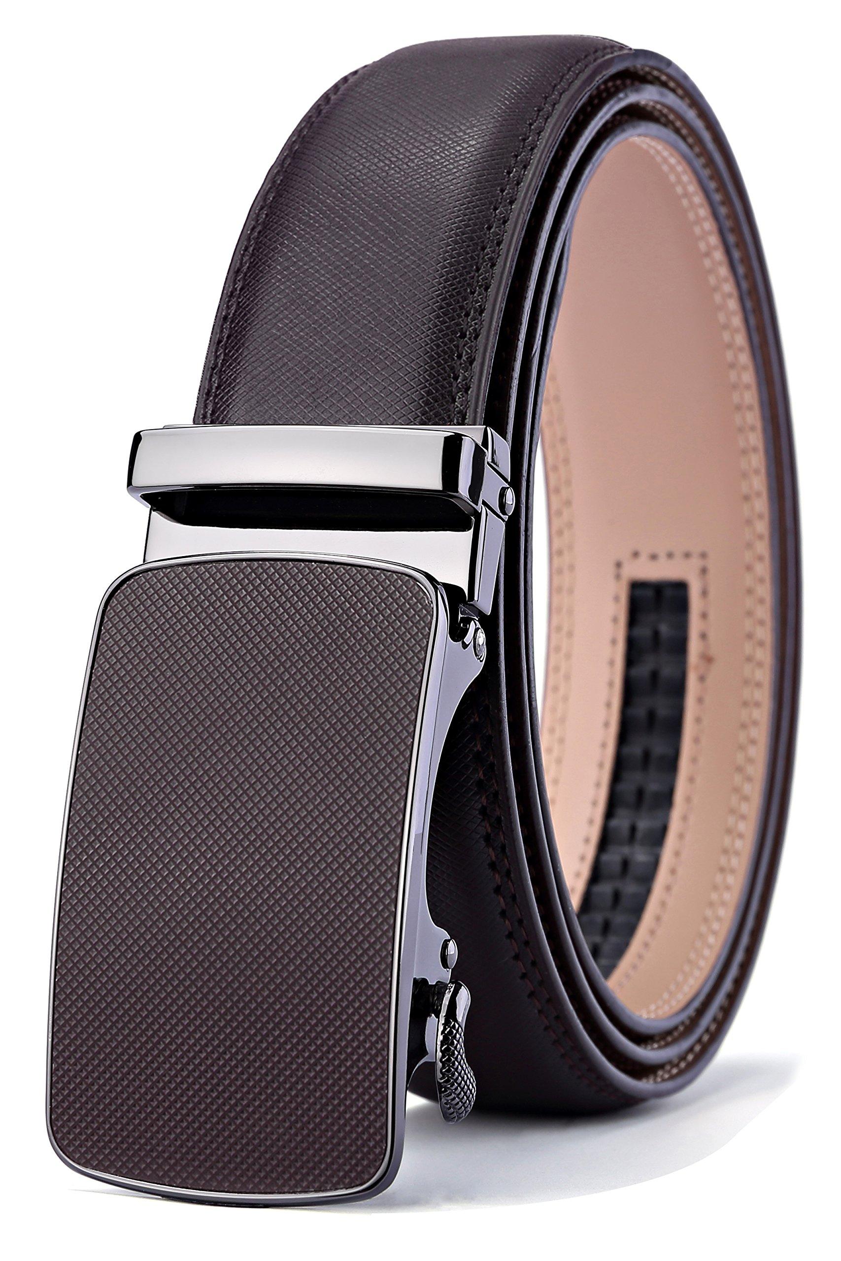Men's Belt,Bulliant Slide Ratchet Belt for Men with Genuine Leather 1 3/8,Trim to Fit by BULLIANT (Image #1)