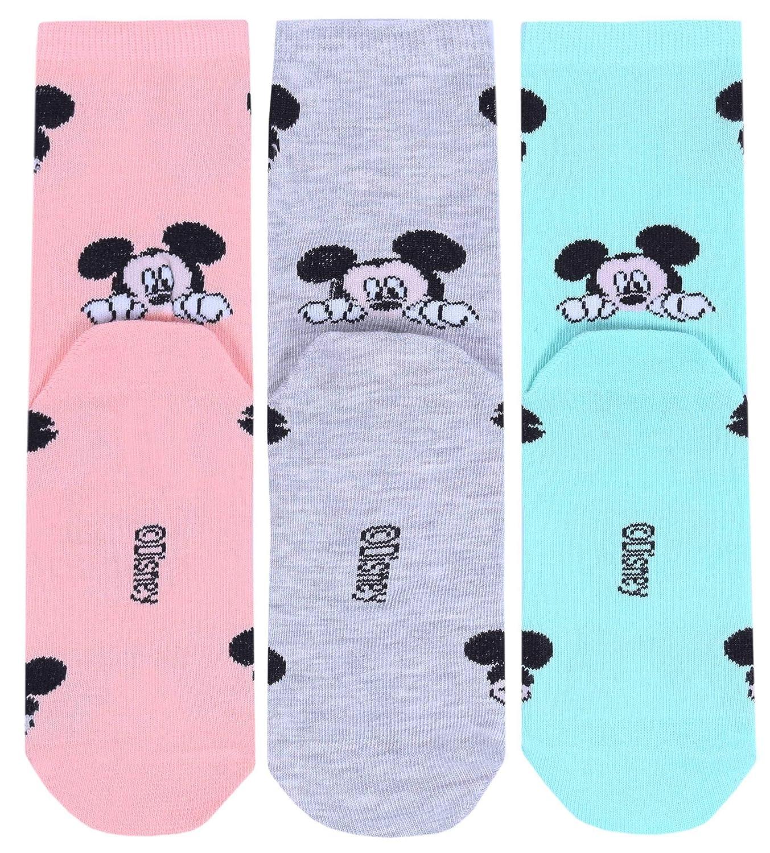 menta Mickey DISNEY 3 x Calze di colore albicocca