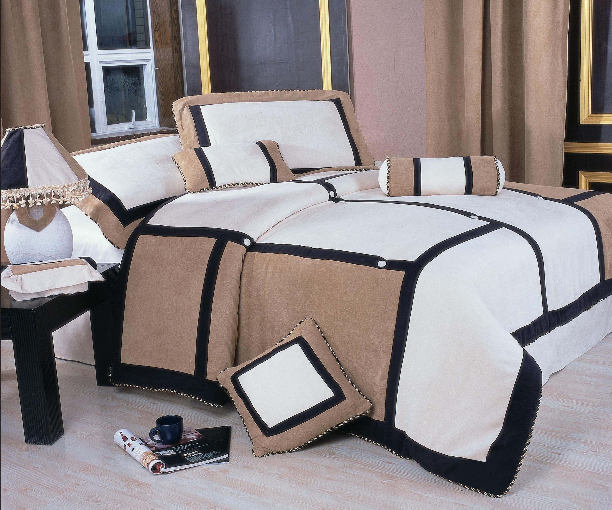 Nanshing America Merriddia Microsuede 7-Piece Comforter Set, King