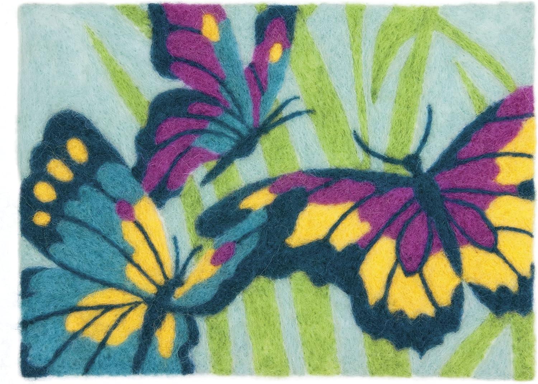 Dimensions Needlecrafts Felt Art Butterflies Needle Felting