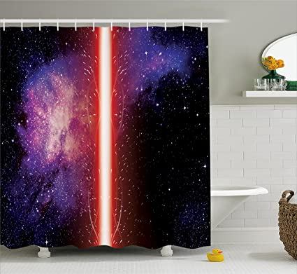 amazon com ambesonne galaxy shower curtain famous movie prop
