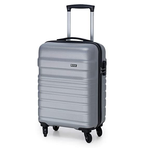 Verage Tokyo 56 cms Grey Cabin/Carry-on Trolley 4 Wheels Hard Suitcase Spinner Luggage