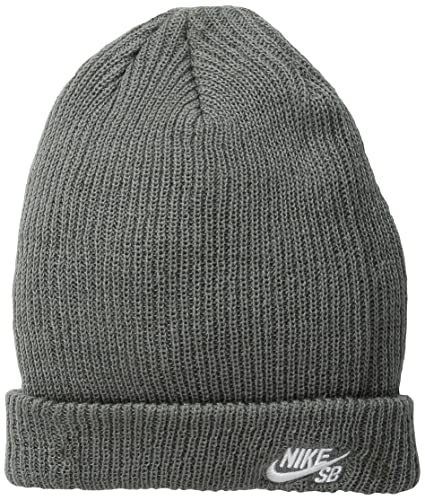 Amazon.com  Nike Mens SB Fisherman Skull Cap Beanie Tumbled Grey White   Sports   Outdoors 1d9ec1dba52