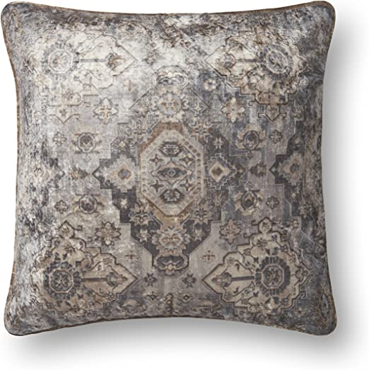 Multi Loloi P0591 Pillow Cover with Down Fill 22 x 22
