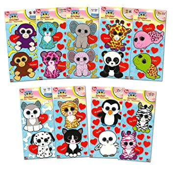 Ty Beanie Boos Giant Stickers ~ Complete Set of 18 Large Beanie Boo Stickers  (5