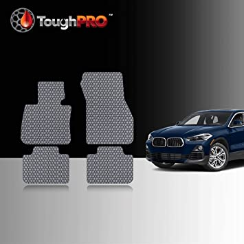 Amazon Com Toughpro Floor Mat Accessories Set Front Row 2nd Row Compatible With Bmw X2 All Weather Heavy Duty Made In Usa Gray Rubber 2018 2019 2020 2021 Automotive