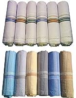 Gents handkerchief Combo - 6pc White plus 6pc Color -41x41 Cm - XYZ Textiles