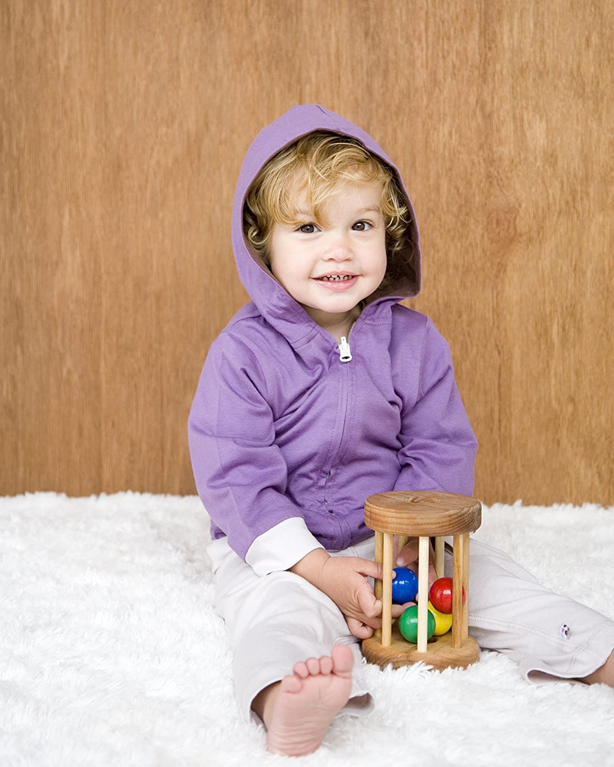 12-24 Months, Eggplant Babysoy Year Round Reversible Hoodie