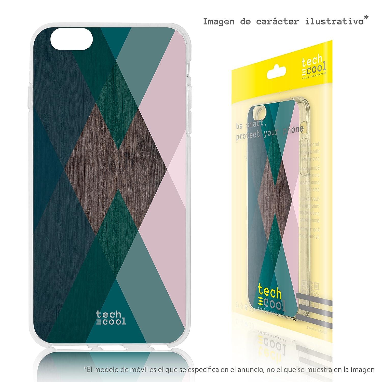 Funnytech® Funda Silicona para iPhone 7 Plus [Gel Flexible Gran Resistencia Diseño Exclusivo] Gafas Mago Fondo Negro Diseños Ilustraciones 1 GTCL-001