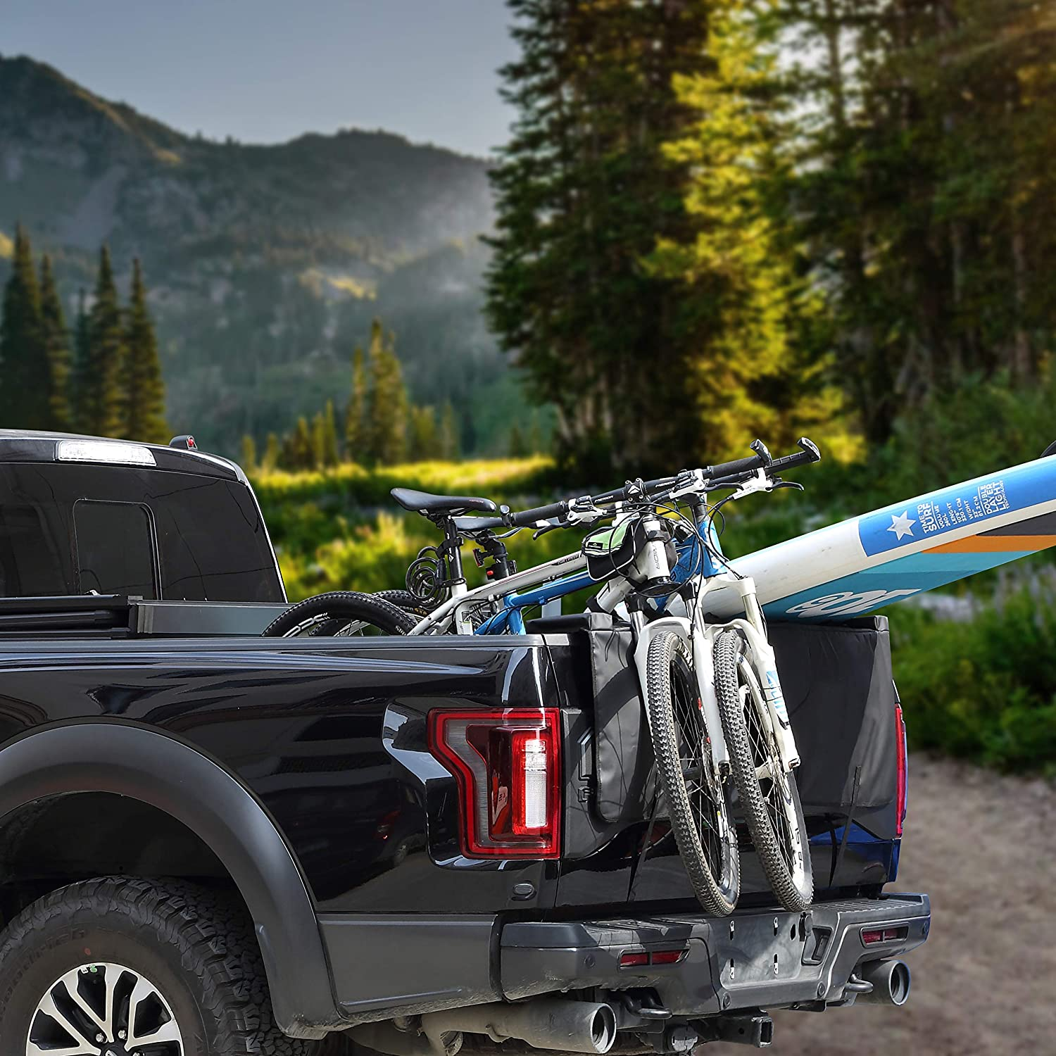 Mgradic 54 Truck pickup Tailgate pads surfboard bike rack with 5 pionts for Bicycle Payload
