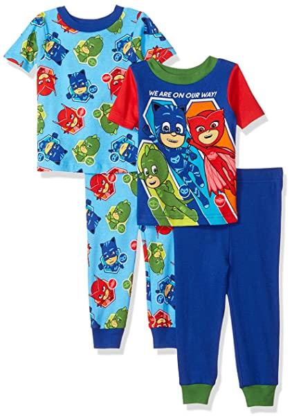 Pj Masks Boys Toddler Boys Pj Masks 4 Piece Cotton Pajama Set: Amazon.ca:  Clothing U0026 Accessories