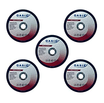 OASIS 4.5 Cut Off Wheel 4 1//2 inch x .045 x 7//8 for Metal /& Stainless Steel 10 Pack