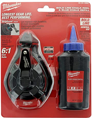 Milwaukee 48-22-3982 100 Ft. Bold Line Chalk Reel w/ Strip