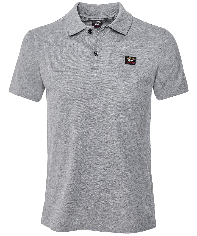 Paul and Shark Mens Pique Cotton Polo Shirt Gray