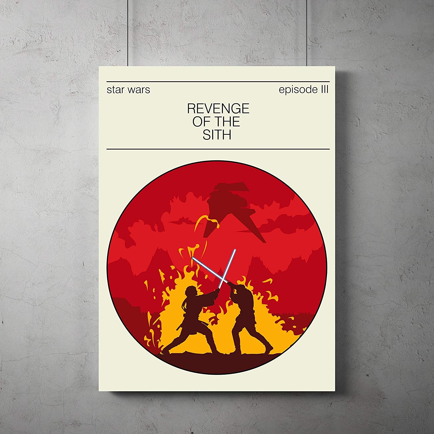 Amazon Com Star Wars Revenge Of The Sith Poster Revenge Of The Sith Minimalist Prints Star Wars Home Decor All Prints Avialable In 9 Sizes And 3 Type Of Materials Handmade