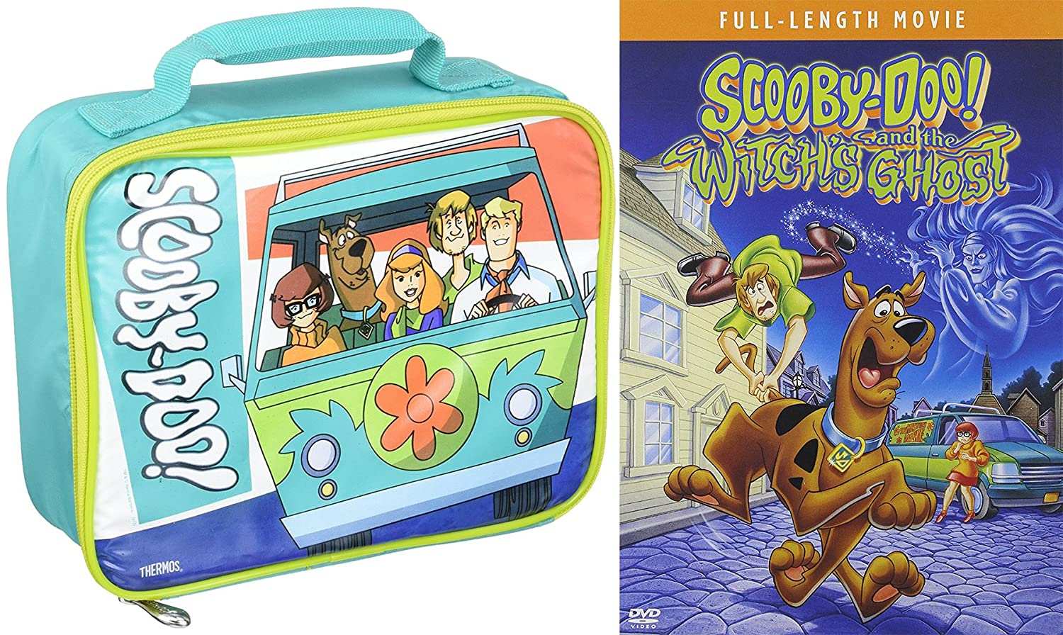 Amazon Com Scooby Doo And The Witch S Ghost Cartoon Movie Dvd Mystery Machine Thermos Soft Lunch Kit Bag Bundle Scooby Doo Movies Tv