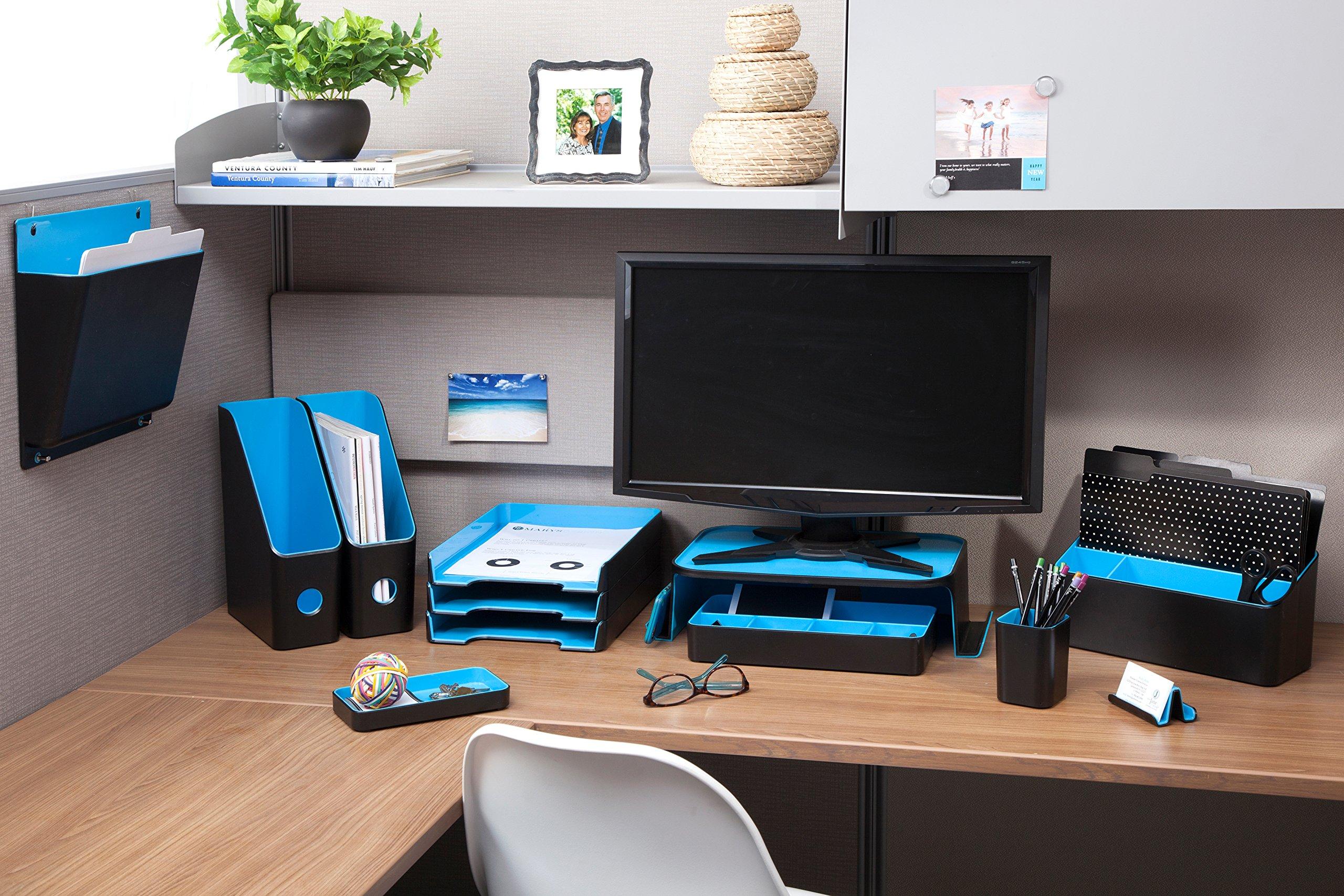 ADVANTUS Corporation Fusion 3-Compartment Desk Valet, 12''X5.5''X5.5'' (FDV-37482)